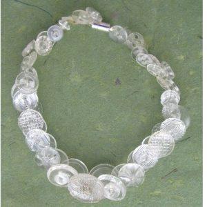 Clear Vintage Button Necklace