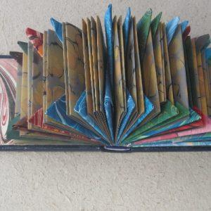 Marbled Samplebook Altered Book