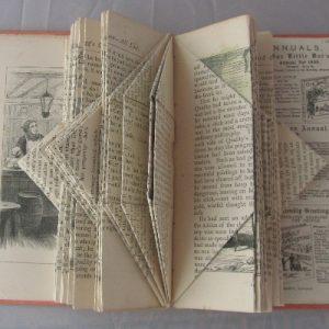 """Quality Fogg's Old Ledger"" Altered Book"