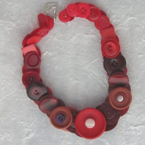 Red Vintage Button Necklace