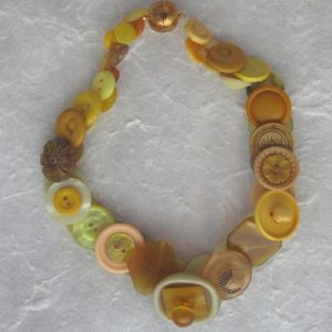 Yellow Vintage Button Necklace